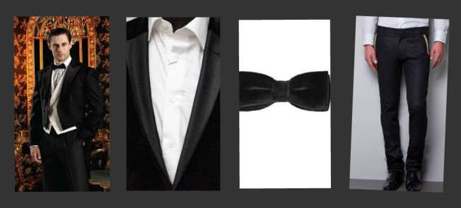 Formal Wedding outfit- All Black, black blazer, dark coat and white shirt with black trousers.
